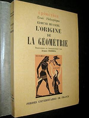 L'Origine de la géométrie.: HUSSERL, Edmund