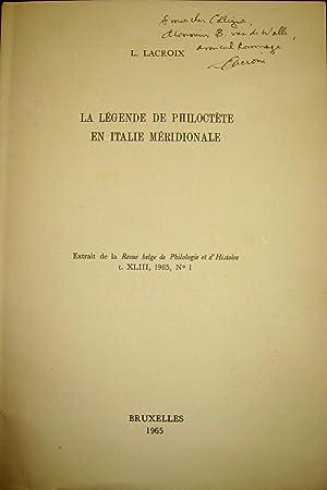 La Légende de Philoctète en Italie méridionale.: LACROIX, L.