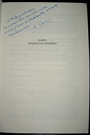 Marx penseur du possible: VADEE, Michel