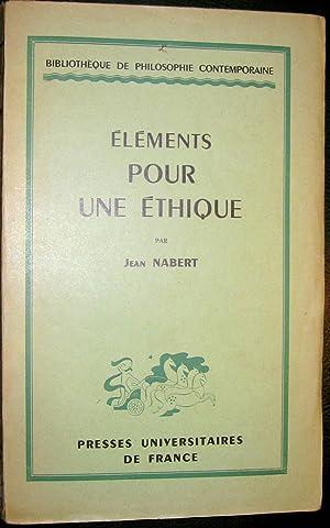 Eléments pour une éthique: NABERT, Jean