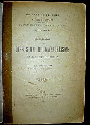 Essai sur la diffusion du manchéisme dans l'Empire romain.: STOOP, Emile de