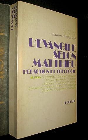 L'Evangile selon Matthieu. Rédaction et théologie.: DIDIER, M. (coord.), E. ...
