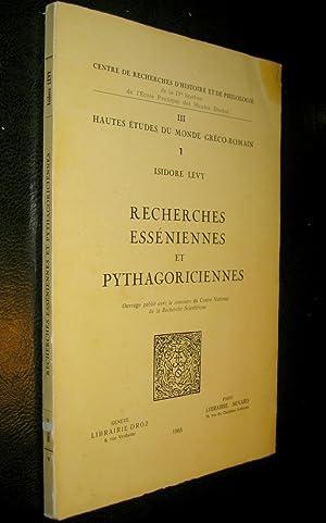 Recherches esséniennes et pythagoriciennes.: LEVY, Isidore