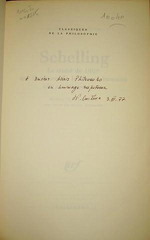 Schelling. Le traité de 1809 sur l'essence de la liberté humaine édit&...