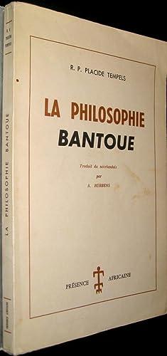 La Philosophie bantoue: TEMPELS, Placide