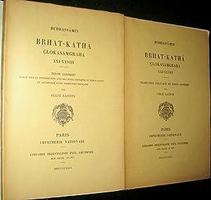 BRHAT-KATHA CLOKASAMGRAHA XXI - XXVIII: BUDHASVAMIN / LACOTE, Félix (trad.)