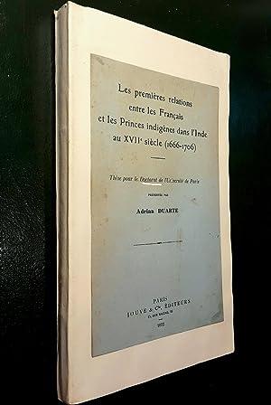 Les premières relations entre les Français et: DUARTE, Adrian