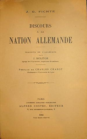 Discours à la nation allemande.: FICHTE, J.-G.