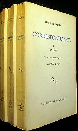 Correspondance I. (1713-1757), II. (Décembre 1757 - Novembre 1759), III. (Novembre 1759 - D&...