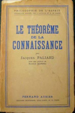 Le Théorème de la connaissance: PALIARD, Jacques