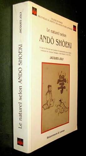 Le Naturel selon Andô Shôeki. Un type de discours sur la nature et la spontanéit...