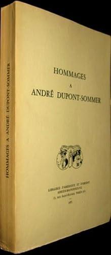 Hommages à André Dupont-Sommer
