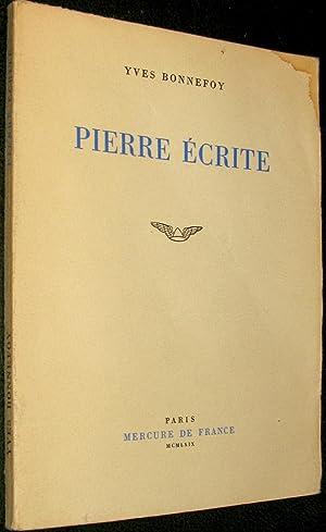 Pierre écrite: BONNEFOY, Yves