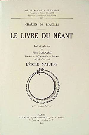 Le Livre du Néant.: BOVELLES, Charles de