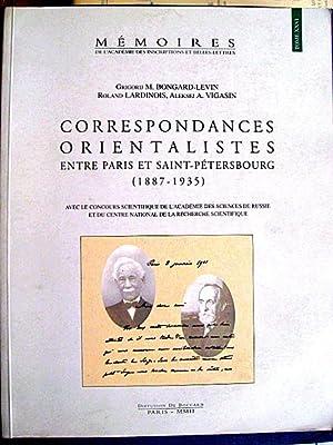 Correspondances orientalistes entre Paris et Saint-Petersbourg (1887-1935). Lettres de Sylvain LEVY...