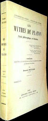 Les Mythes de Platon. Etude philosophique et littéraire.: FRUTIGER, Perceval