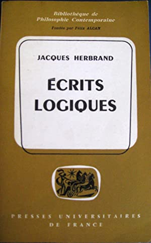 Ecrits logiques.: HERBRAND, Jacques