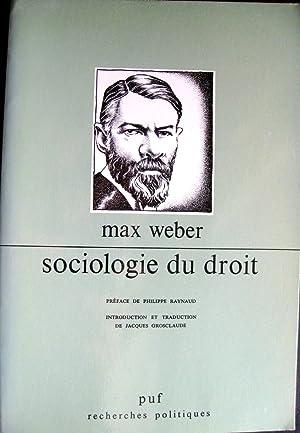 Sociologie du droit.: WEBER, Max