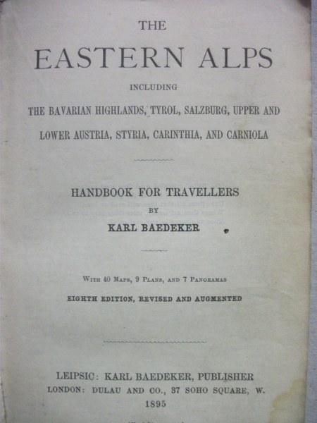 Baedeker's Eastern Alps
