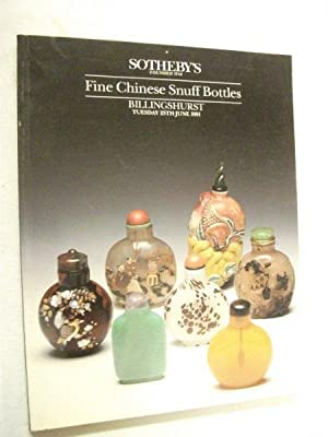 Sotheby's Auction Catalogue: Fine Chinese Snuff Bottles: N/a