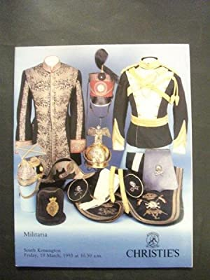 Christie's auctioneers catalogue; Militaria