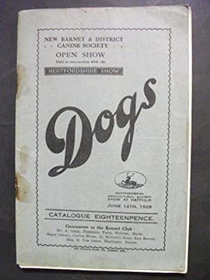 New Barnet & District Canine Society Open Dog Show, June 14th 1928