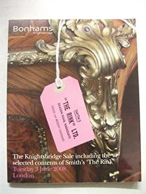 Bonhams auctioneers catalogue: The Knightsbridge Sale including the selected contents of Smith's ...