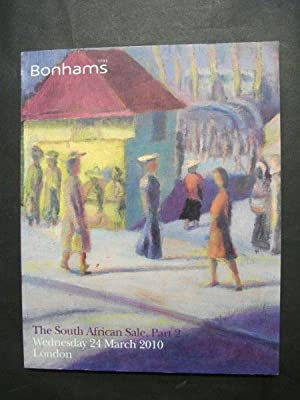 Bonhams auctioneers catalogue:The South African Sale, Part 2: Wednesday 24 March 2010, London