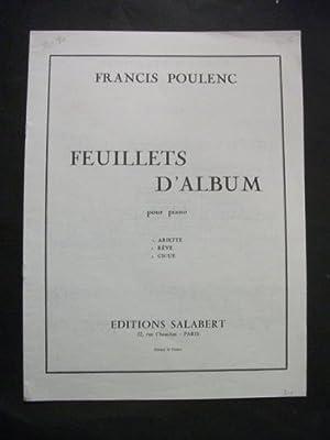 Feuillets D'Album pour piano: 1. Ariette, 2.: Francis Poulenc