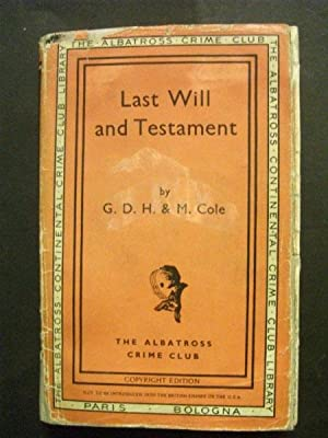 Last Will and Testament, or, The Pendexter Saga, Second (and Last) Canto