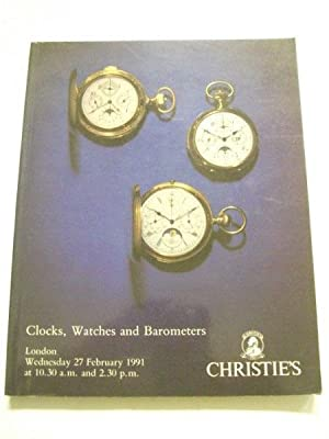Auction Catalogue: Clocks, Watches and Barometers - London, Wednesday 27 February 1991