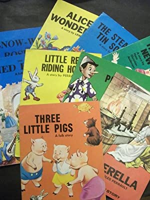 9 Giant Fairy Story Books: Snow White; Alice in Wonderland; The Steadfast Tin Soldier; The Emperor&...