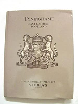 Auction of the Contents of Tyninghame, East Lothian, Scotland: 28th and 29th September 1987