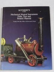 Auction Catalogue: Mechanical Musical Instruments, Dolls, Toys and Related Material - 29th May 1984