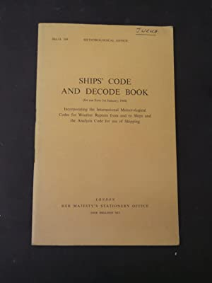 Ships' Code and Decode Book - (: N/a