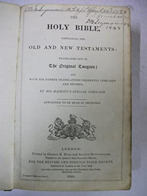The Holy Bible: N/a