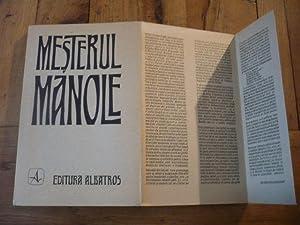 MESTERUL MANOLE. Master Manole. Le Maître Manolé. Der Meister Manole. Mactep Mahone. ...