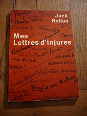 Mes lettres d injures