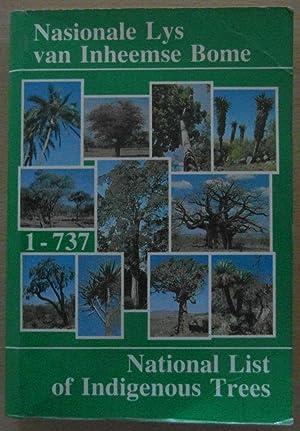 National List of Indigenous Trees: Nasionale Lys Van Inheemse Bome: Von Breitenbach, F