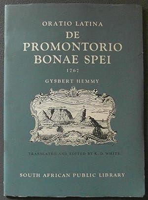 Oratio Latina De Promontorio Bonae Spei 1767 a Latin Oration Delivered in the Hamburg Academy, 10 ...