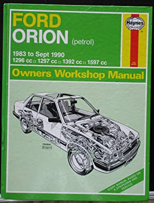 Ford Orion (Petrol) 1983 to Sept 1990 1296cc, 1297cc, 1392cc & 1597cc (Service & repair manuals)