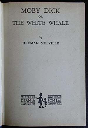 Moby Dick or the White Whale.: Melville, Herman