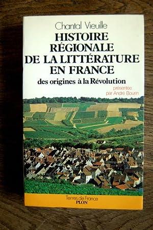 Histoire régionale de la littérature en France: Chantal Vieuille