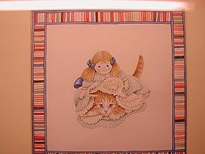 Original Watercolour Kittens: Ivory. Lesley Anne