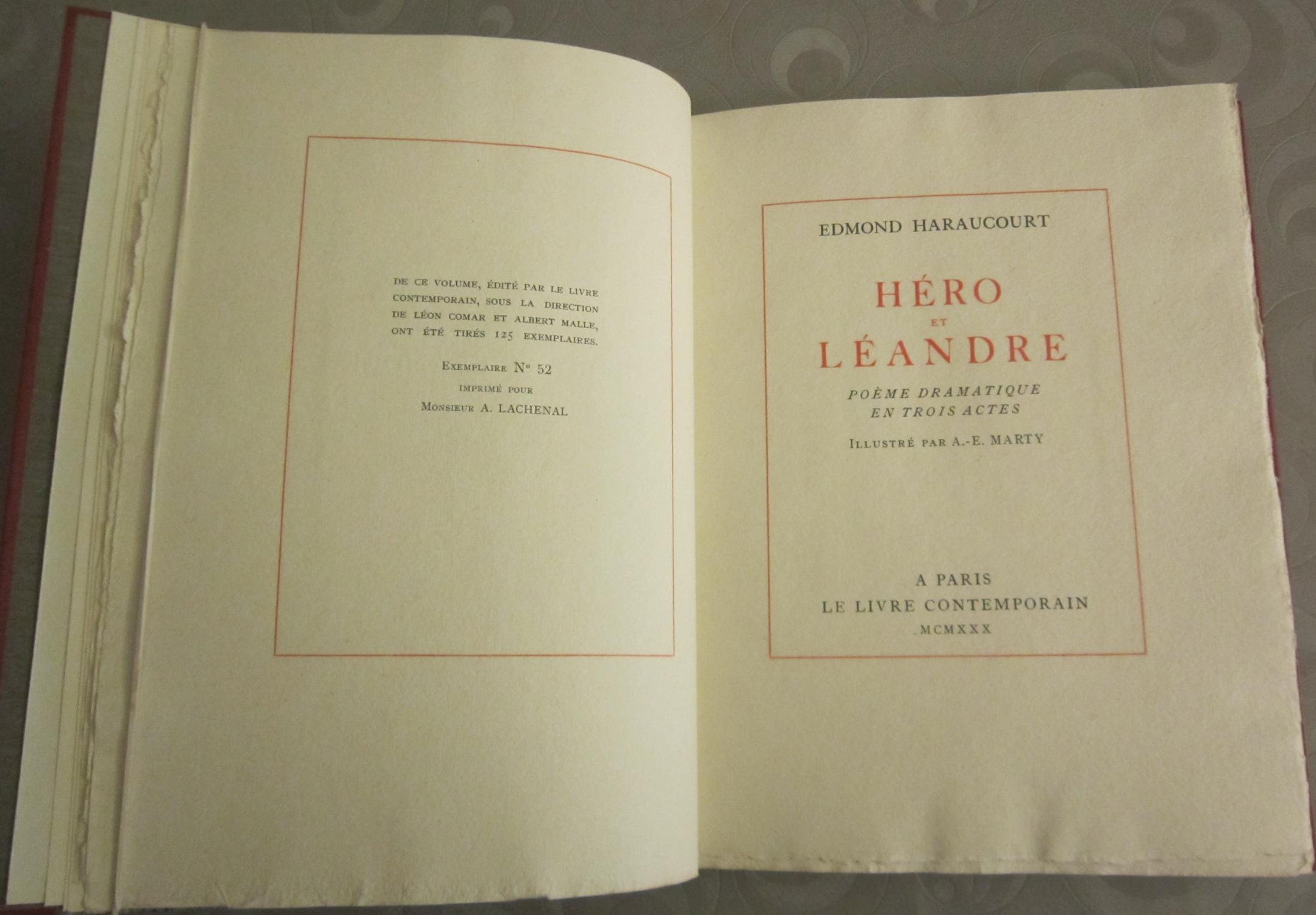 Héro Et Léandre Poème Dramatique En Trois