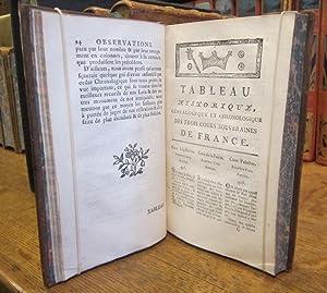 Tableau historique, généalogique et chronologique des trois Cours Souveraines de France: BOUQUET (...