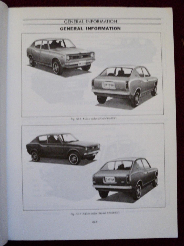 Nissan Service Manual - Datsun 100A Model E10 Series Chassis & Body: Nissan Motor Co.