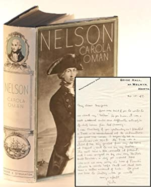 Nelson (Author's presentation copy with an autograph letter from the author dated 30 October ...