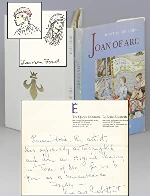 Joan of Arc, very rare binding anomaly bearing two original sketches and signatures by illustrato...