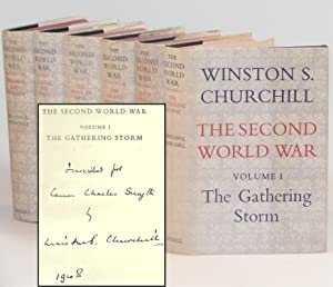 The Second World War, with Churchill's Volume I inscription in the year of publication to the Rec...